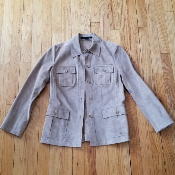 Theory Leather/suede Jacket Size P